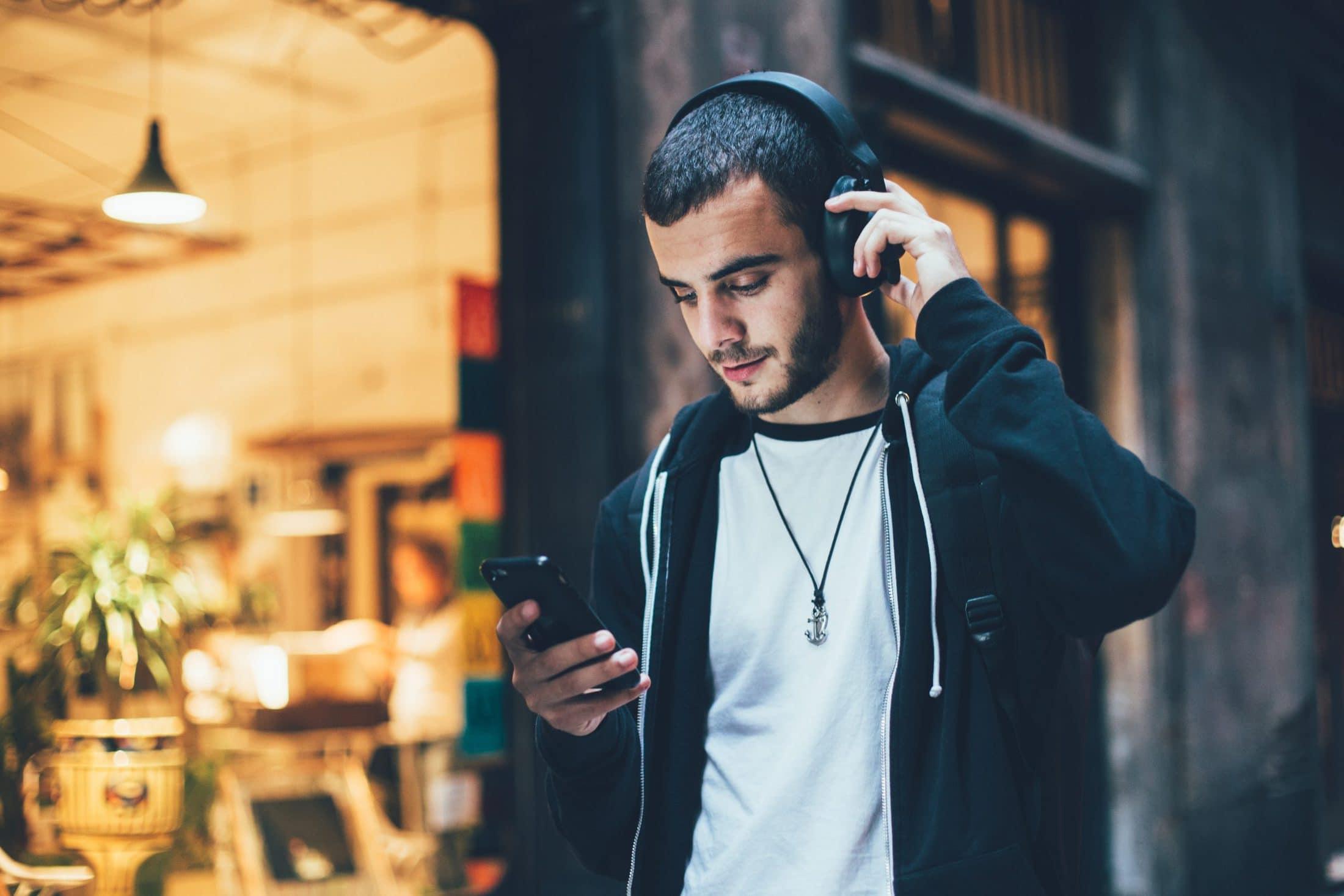Man Listening to Music Image